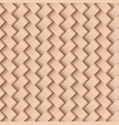texture of beige leather weaving seamless pattern vector image