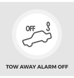 Tow away alarm off icon flat vector