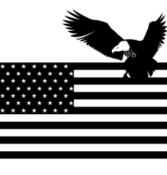 US flag and an eagle vector