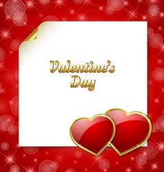 Valentines day document template vector