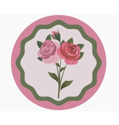 Vintage rose flowers bouquet vector