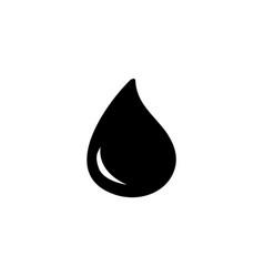 water drop icon vector image