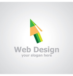 Web design logo vector