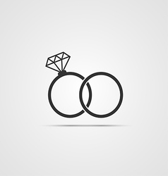 wedding ring icon vector image