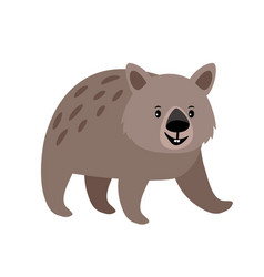 Wombat cute animal icon vector
