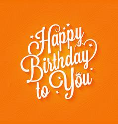 birthday vintage lettering card design background vector image