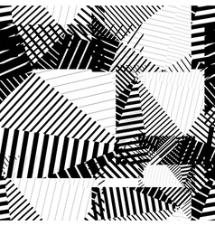 Black and white endless striped tiling fashionable vector image vector image