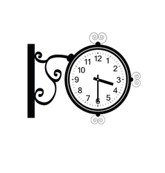 clock antique beauty black vector image vector image