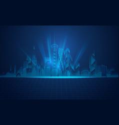 matrix city vector image