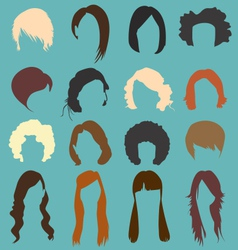 Retro Womans Hairstyle Silhouettes vector image vector image
