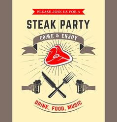 steak party vector image