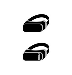 virtual reality headset icons vr glasses with a vector image