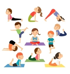Children yoga vector image vector image
