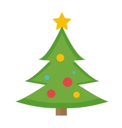 Christmas tree icon Isolated on white vector image vector image