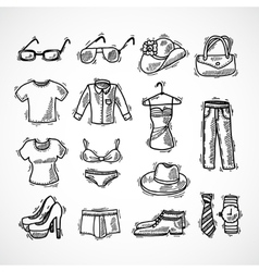 Fashion Icons Set vector image vector image