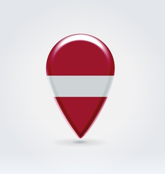 Latvian icon point for map vector image vector image