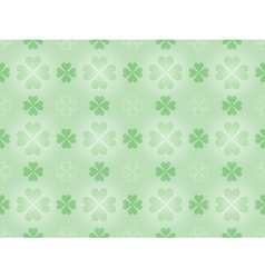 pattern with four leaf shamrock vector image vector image