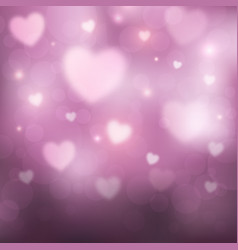 abstract romantic pink background with hearts and vector image vector image