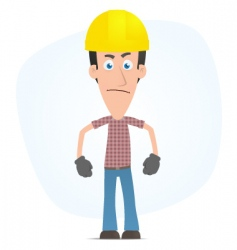 angry builder vector image vector image