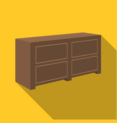 brown bedside table with drawersnightstand next vector image vector image