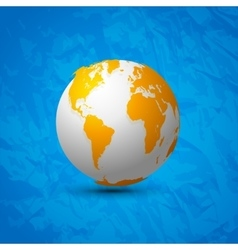 Globe map world 3d design on blue background vector image vector image