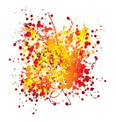 ink splat design vector image vector image