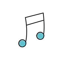 Musical note trhythm notation icon vector