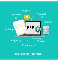 Rfp request for proposal icon vector