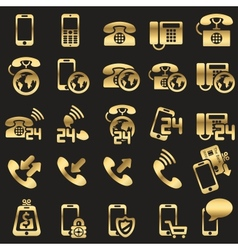 set of phone icons vector image vector image