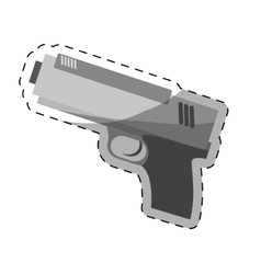 single gun icon image vector image