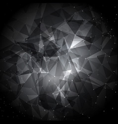 abstract low poly background with connecting dots vector image vector image