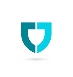 letter j shield logo icon design template elements vector image vector image