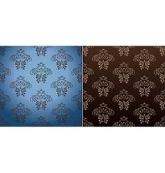 seamless wallpaper set curves vintage background vector image