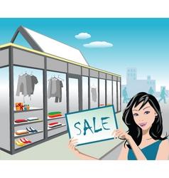 shop sale vector image