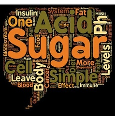 Sugar and the pH miracle diet text background vector image vector image