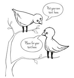 Two birds talking vector image