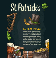 vertical poster for saint patrick s day vector image vector image