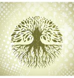 Vintage Tree Background vector image