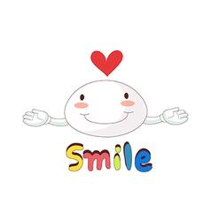 A smile icon vector