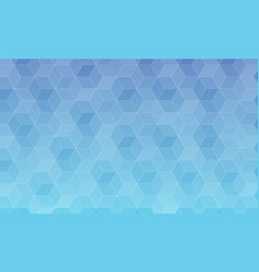 Abstract blue gradient polygon background vector
