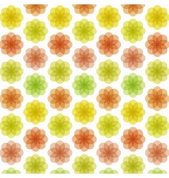 Abstract colorful flower pattern vector