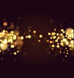 abstract defocused circular christmas golden bokeh vector image