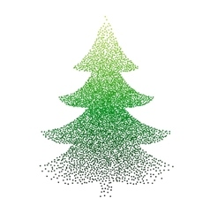 abstract polka-dot stipple Christmas vector image