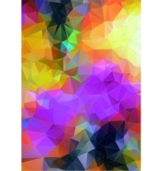 Abstract polygonal background for web design vector image