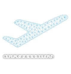 Airplane departure polygonal frame mesh vector