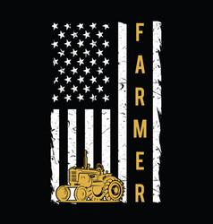 american farmer flag t-shirt design vector image