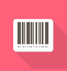 barcode icon set of great flat icons with style vector image