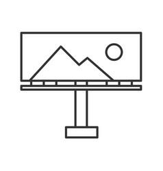 Billboard mockup linear icon vector