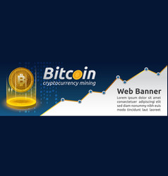 bitcoin cryptocurrency concept banner background vector image