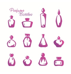 Bottle of perfume vector image